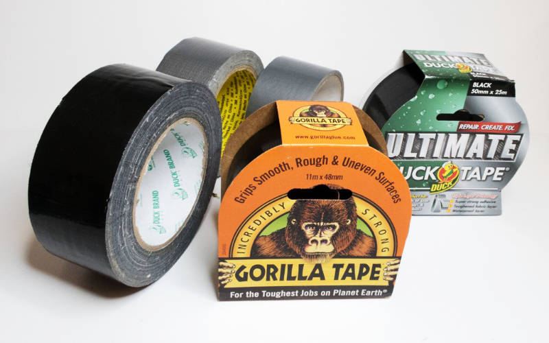 Various Rolls Of Duct Tape