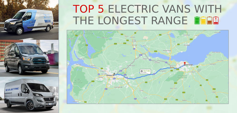 You are currently viewing Top 5 Large Electric Vans With The Longest Range