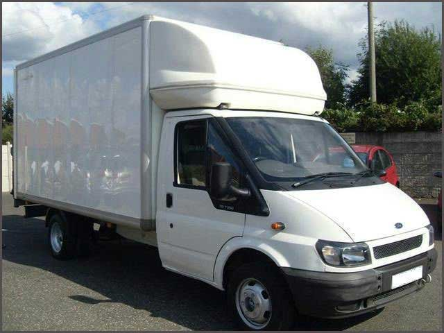 Man And White Luton Van