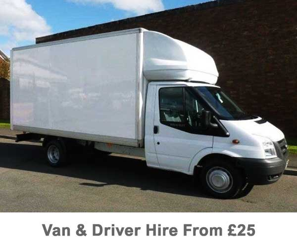 A Man And White Luton Van