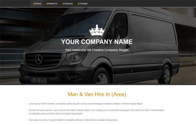 Man And Van Website Template Header